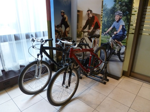 Bikes available at Fairmont Winnipeg Hotel