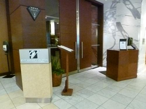 Fairmont Winnipeg Hotel - entrance to The Velvet Glove restaurant